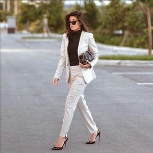 NWT Zara Cream Beige Tailored Blazer